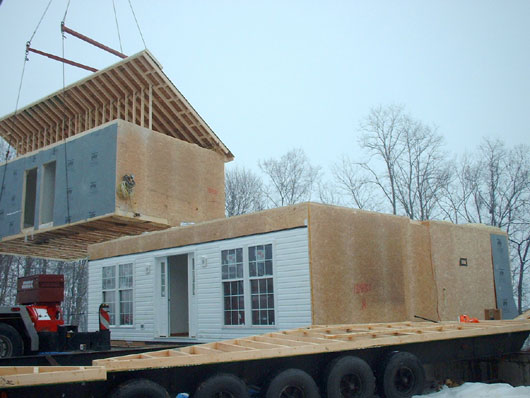 Modular home sets modular home setup w ross construction Modular home in pa